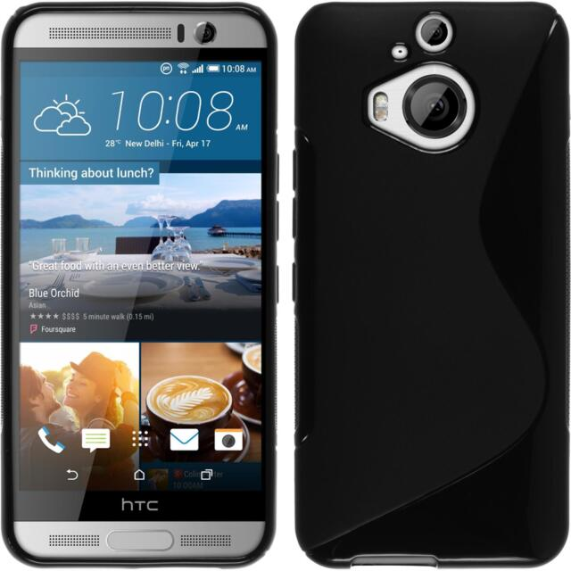 Silicone Case for HTC One M9 Plus S-Style black + protective foils