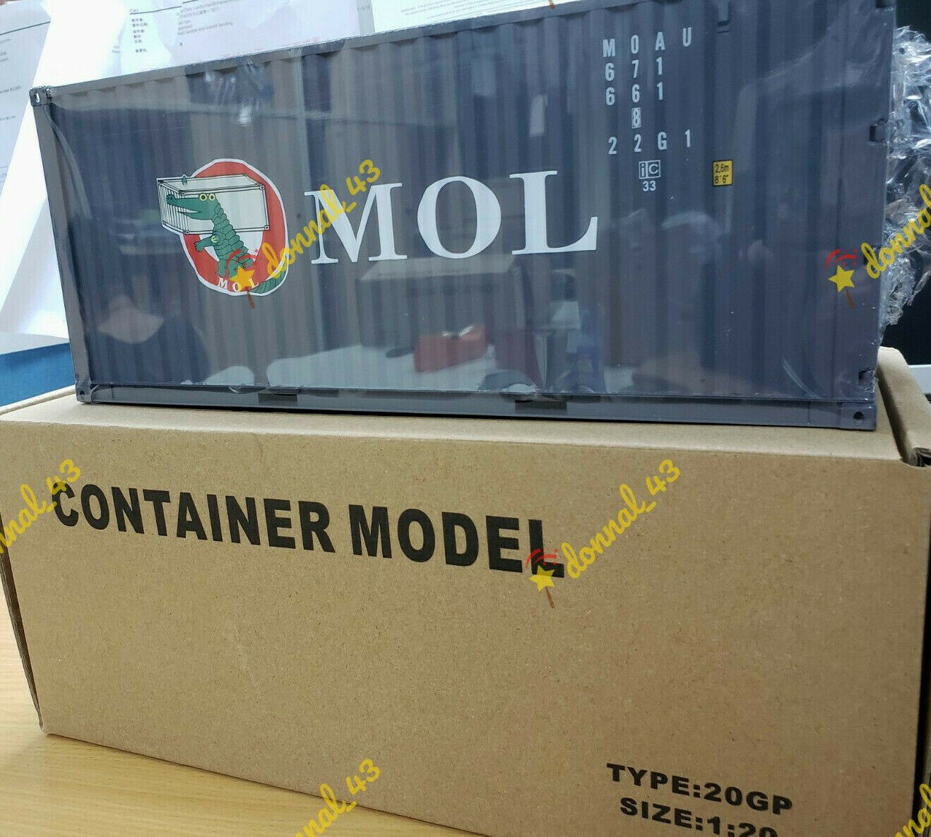 MOL 1 20 Sea Transport Cargo Shipping Container Model METAL