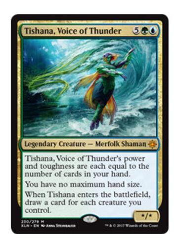 MTG Voice of Thunder MAGIC IXALAN 1x Tishana MYTHIC GOLD