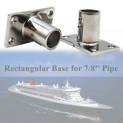 """2PCS New 316 Stainless Steel Boat Front Stanchion Hand Rail Fitting 7//8/"""""""
