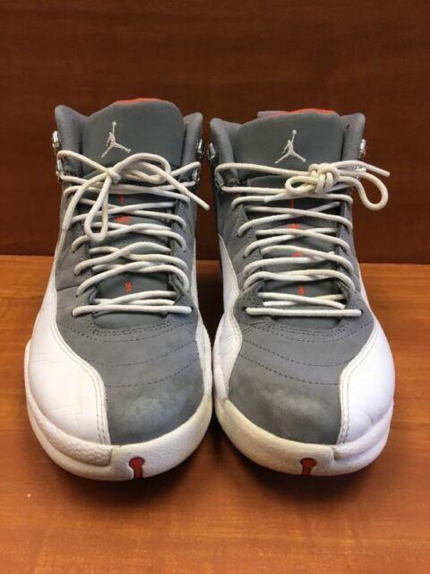 5a63ab9688b953 Air Jordan 12 XII Cool Grey Size 10.5 130690-012 DS Grey  Orange ...