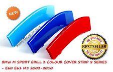 BMW M SPORT KIDNEY GRILL 3D  3COLOUR COVER STRIP 5 SERIES - E60 E61 M5 2003-2010