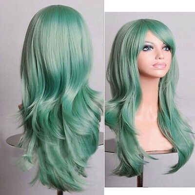 Ladies Fashion Cosplay Natural Curly Wavy Fancy Dress Womens Hair Wig Pop