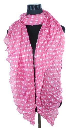 Damenschal Schal Tuch Leopard Pünktchen Streifen dezente Transparenz Knitter-Opt