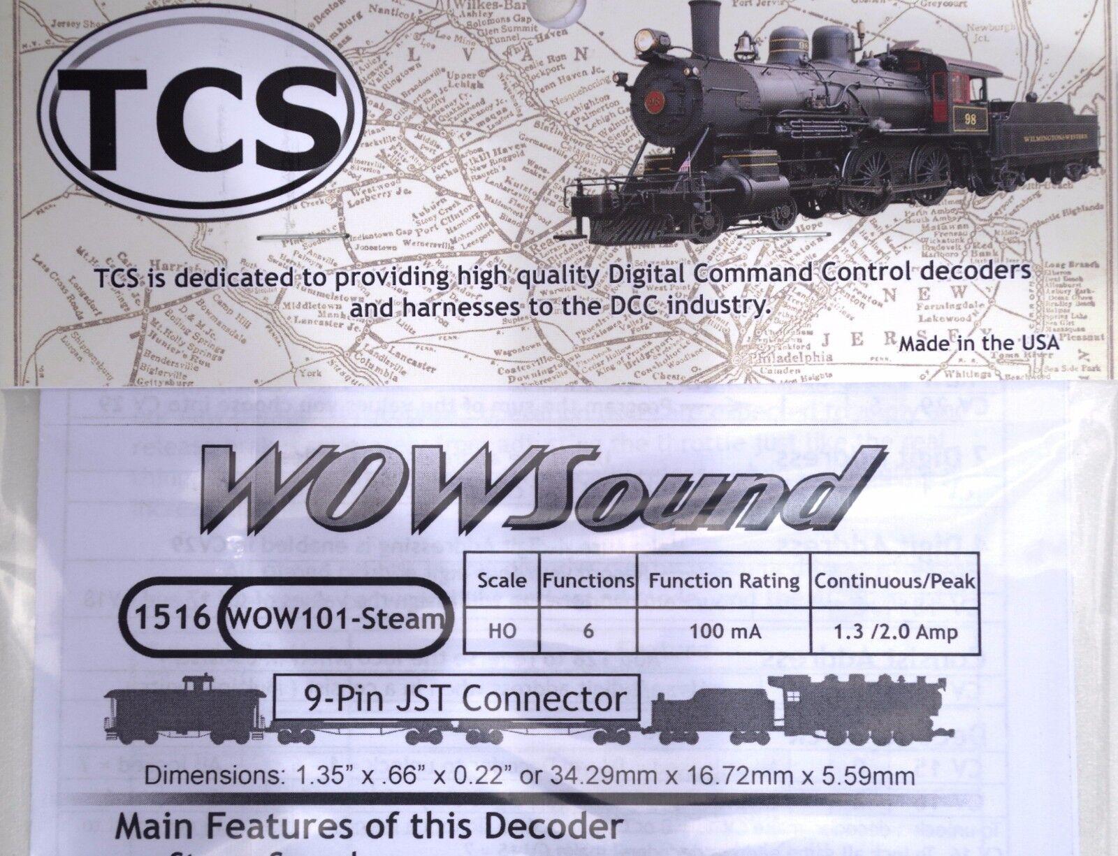 DCC decoder TCS WOW101 Steam Sound Decoder HO Scale, Version 4