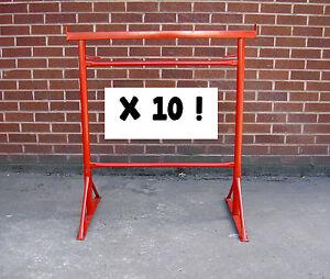10 x Size No 3 Adjustable Steel Builders Trestle / Trestles Band Stands