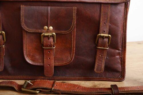 New Men/'s 100/% Leather messenger shoulder bag vintage briefcase laptop bags