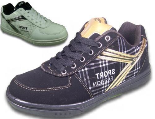 Herren Sneaker Leder-Optik NEU Sportschuhe Schuhe Turnschuhe @2626