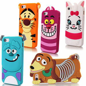 Cartoon-Character-3D-Silicone-Case-Rubber-Cover-For-Apple-iPhone-7-6-6s-Plus-5s