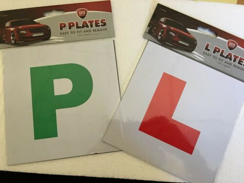 LEARNER DRIVER PLATE EXTERIOR CAR 4 x*MAGNETIC* L /& P SECURE SAFE SIGN PLATES