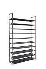 Shoe Rack Organizer Storage Pairs Shoes Shelves Space 10 Tier 50 Pairs Standing