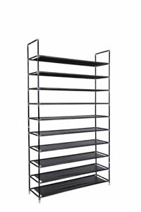 Shoe-Rack-Organizer-Storage-Pairs-Shoes-Shelves-Space-10-Tier-50-Pairs-Standing
