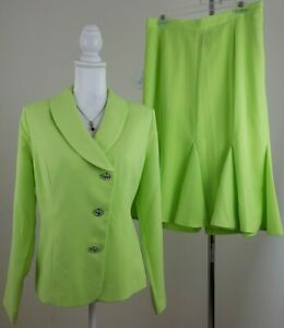 Midnight-Velvet-Woman-Size-12-Honeydew-Dress-Tulip-Hem-Skirt-Suit-Unlined-NWOT