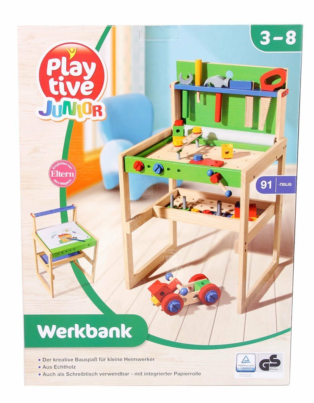 Playtive Junior Toy Workbench Workbench Workbench 91 Pieces Learn & Activities Toy 7ff9ba