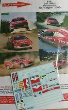 Decals 1/18 réf 976 Peugeot 307 Wrc Gronholm Sardaigne 2005