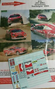 DECALS-1-18-REF-976-PEUGEOT-307-WRC-GRONHOLM-RALLY-ITALIA-SARDAIGNE-2005-RALLYE