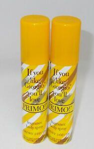 2 Parfums de COEUR Fragrance Body Spray PRIMO 15 g ea