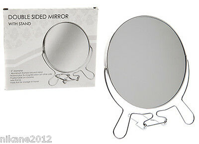 Round Magnifying Bathroom Make Up Cosmetic Shaving Vanity Mirror free postage