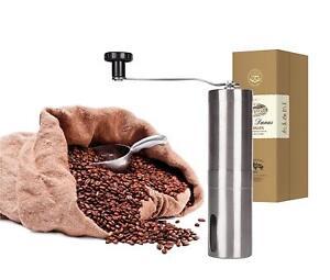 Manuelle Stufenlose Kaffeemühle Edelstahl Espressomühle Handkaffeemühle Kaffeemühlen