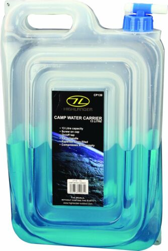 HIGHLANDER CP139 FLAT PACK WATER CARRIER WITH TAP 13L