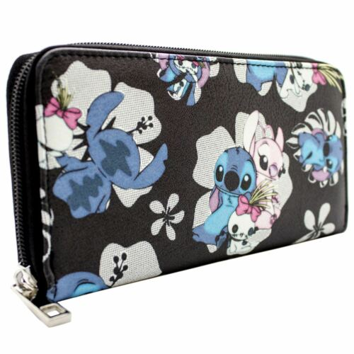 NEW OFFICIAL LILO /& STITCH OHANA MEANS FAMILY BLACK COIN /& CARD CLUTCH PURSE