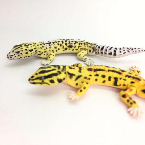 Choco Egg Mini Figure Leopard Gecko Normal /& High Yellow Kaiyodo Furuta Japan