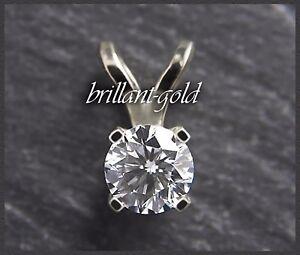 Diamant-Brillant-Anhaenger-585-Gold-mit-0-62-ct-in-River-D-amp-Si-Weissgold-Neu