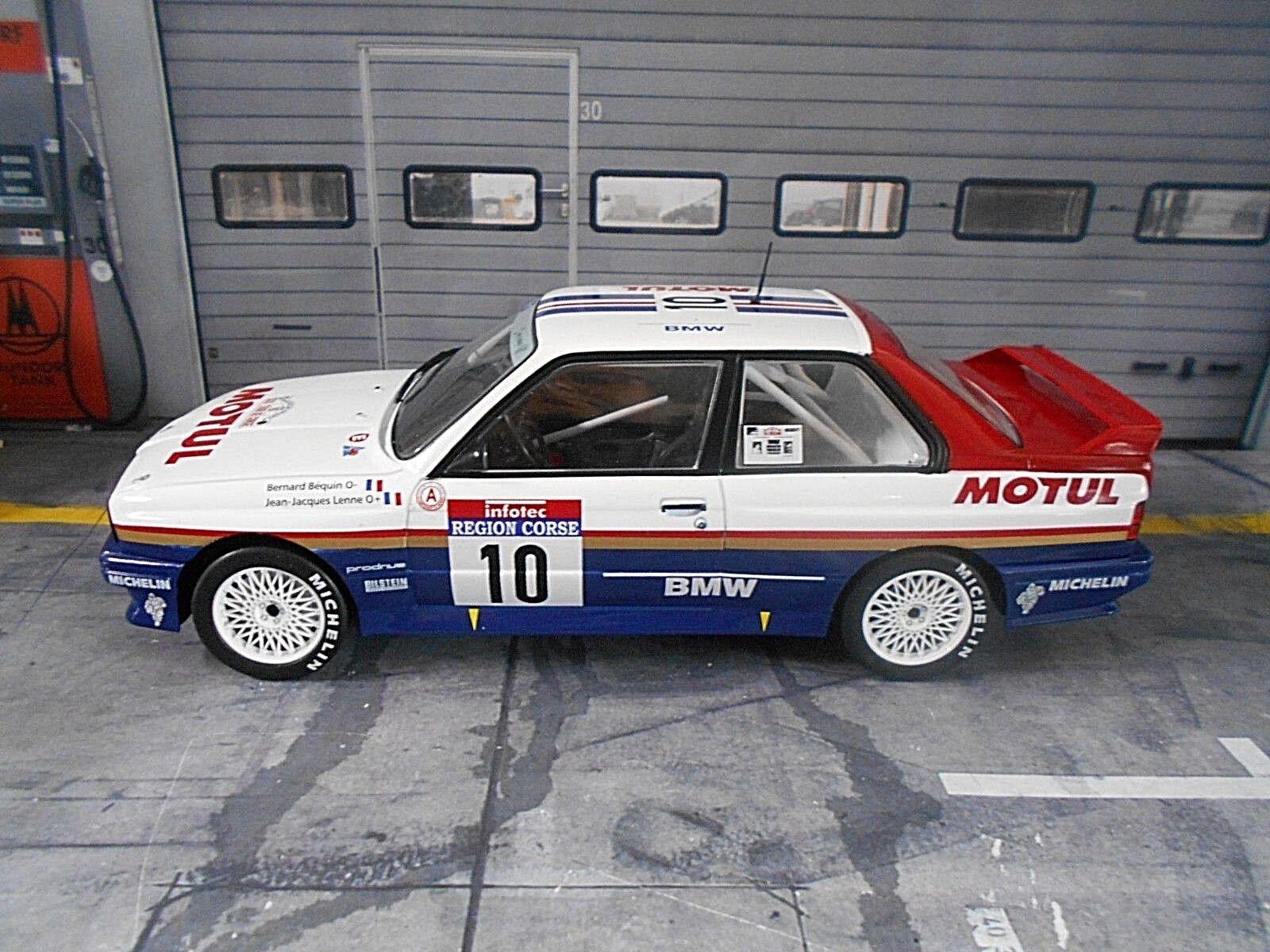 Bmw m3 e30. ein rallye - tour de corse gewinner béguin 1987   10 ixo altaya 1,18