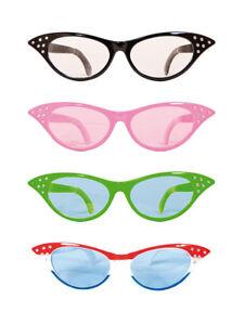 60s Xxl Brille Cat Eye Mit Strass Sekretarin Fasching Accessoires Ebay