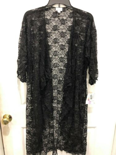 M Lace Nwt Solid Medium Black Shirley Lularoe 8vAwqY
