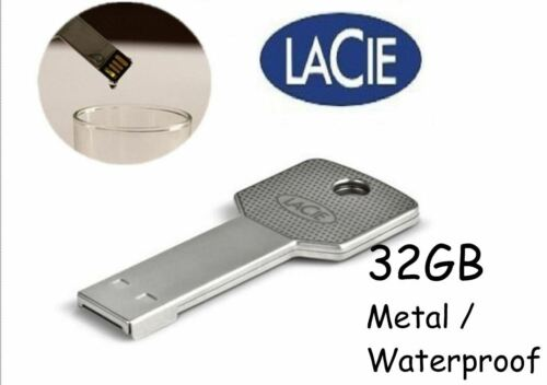 LaCie IamAkey USB Flash Drive Disc 32GB Waterproof Metal Key Design