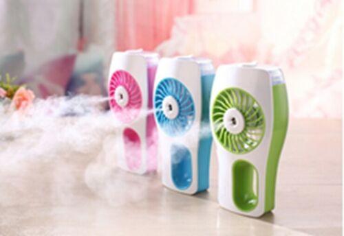 Handheld Mini USB Misting Fan Water Spray Fan Rechargeable Portable