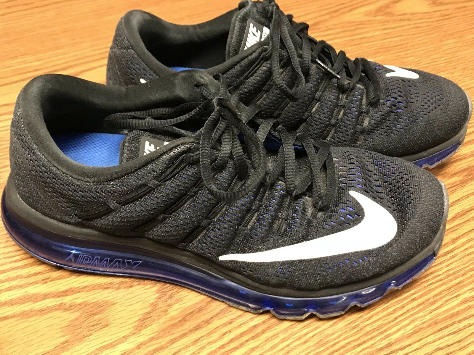 Nike 806771-014 Air Max 2016 Black Racer Blue Running Athletic Shoe Mens Sz 8.5 Wild casual shoes