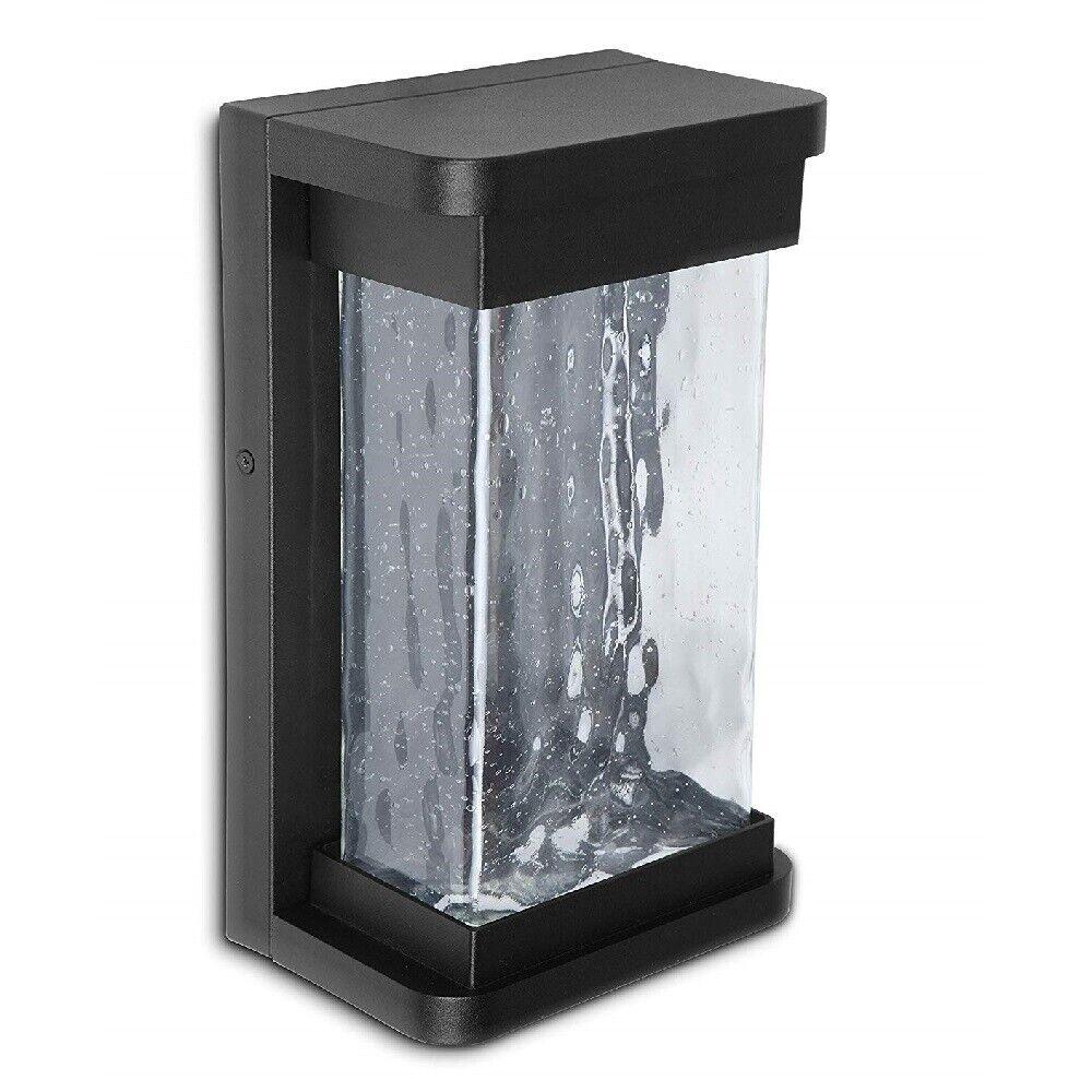LED Alu Außenwandleuchte STARRY schwarz 27,5x16,6x10,8cm Lutec 1857 Bl Eco-Light