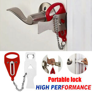 Portable Travel Security Safety Door Lock Intrusion Prevention Buckle Useful NEW