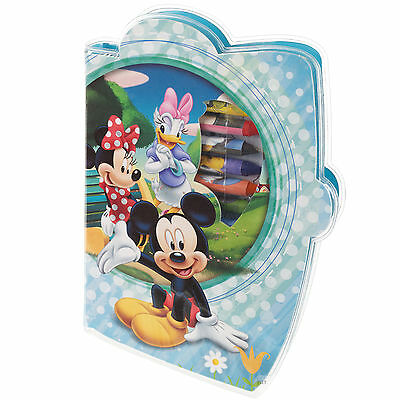 Kids 29pc Disney Crayons & Paint + Colouring Sheets Drawing Art Set Travel Case