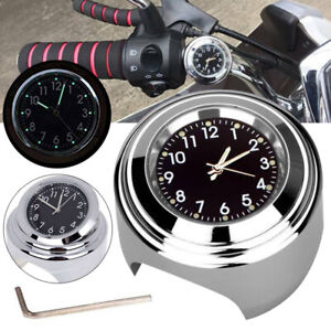 7-8-034-1-034-Waterproof-Motorcycle-Motorbike-Handlebar-Mount-Clock-Black-Dial-Watch