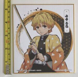 Demonio-Slayer-Kimetsu-No-Yaiba-Zenitsu-Arte-Tabla-Shikishi-Anime-Manga-Japon