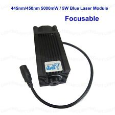 445nm 450nm 5000mW 5W Blue Laser Module for DIY CNC Cutter Engraving Engraver