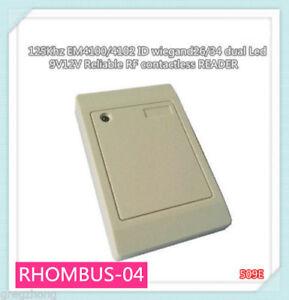 125Khz EM4100//4102 waterproof RFID WG26//34 dual Led Access Control Card READER