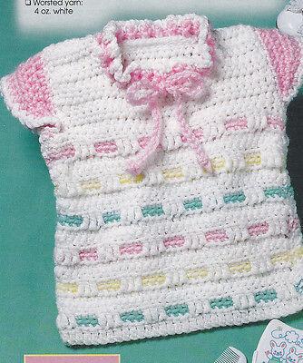 Crochet Pattern ~ LITTLE GIRLS COTTON CANDY PULLOVER ~ Instructions