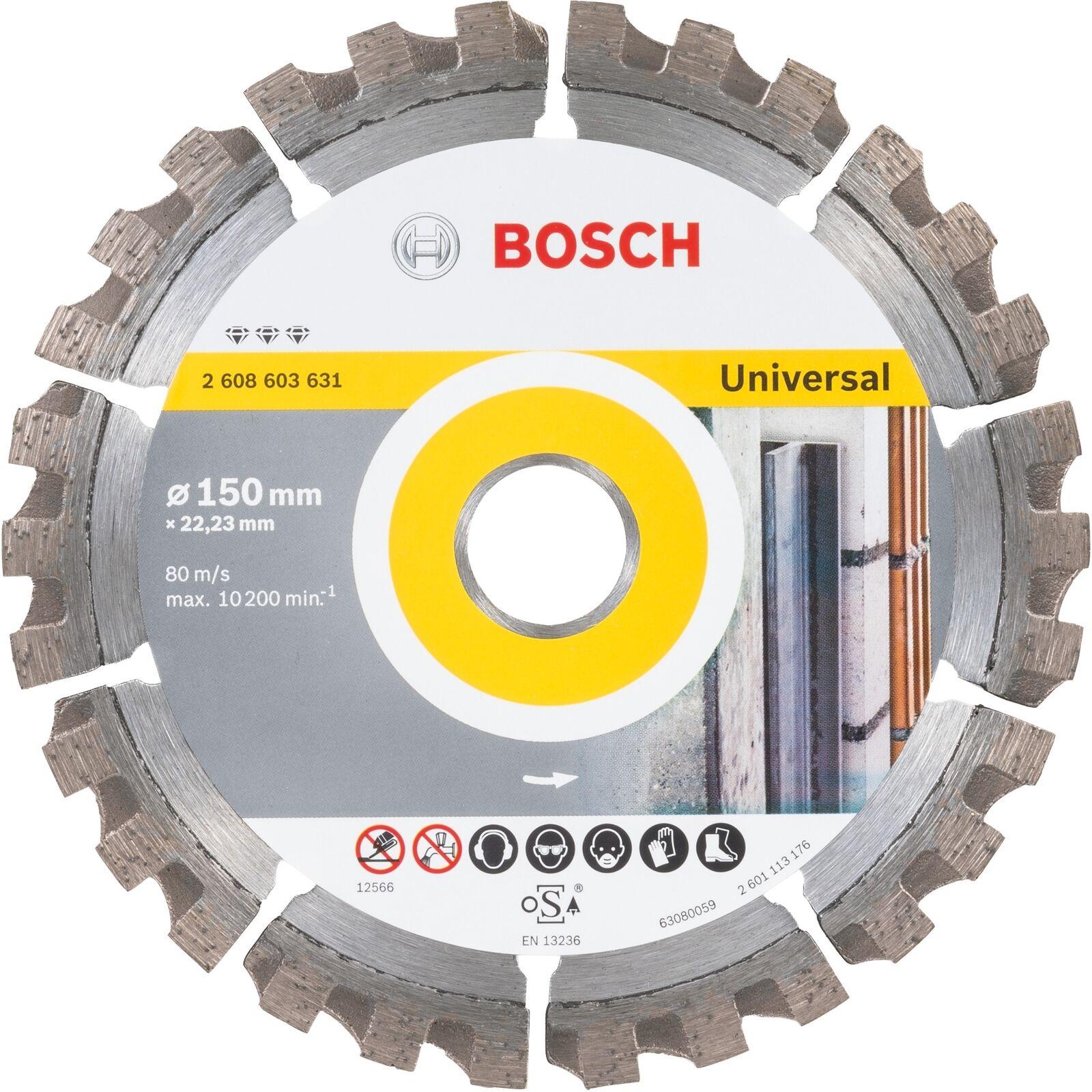 Bosch Professional Diamanttrennscheibe Best for Universal, 150mm, Trennscheibe