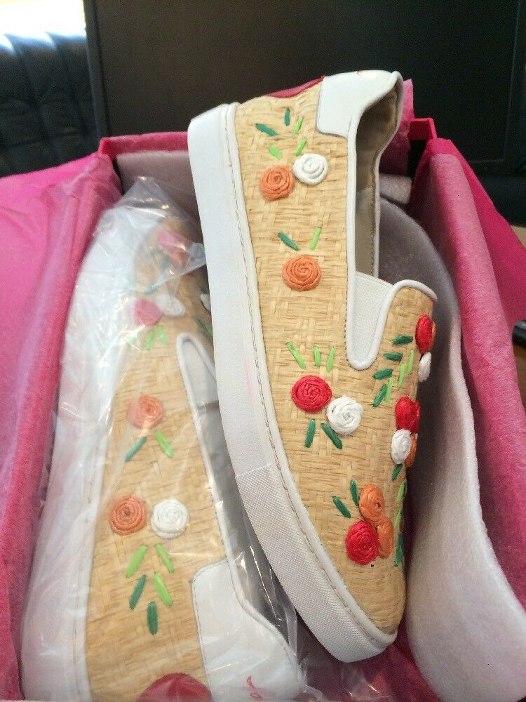 Isa Tapia Floral Raffia Frida Applique Slip On Schuhes Schuhes Schuhes Leder With Rubber soles 5a8fd6