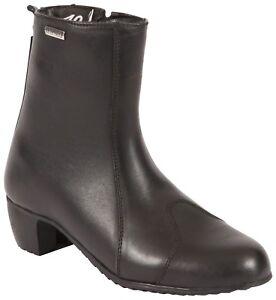 Duchinni-Milan-Ladies-Black-Leather-Waterproof-Motorcycle-Boots-New-RRP-89-99
