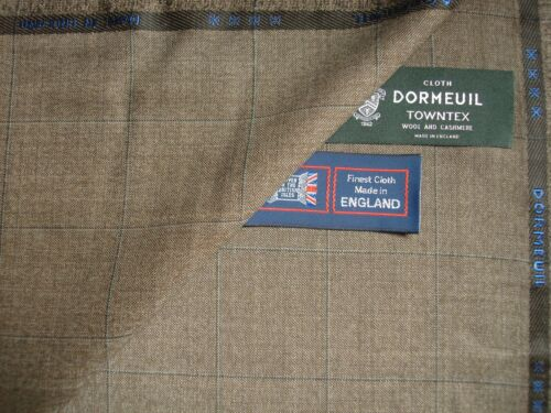 """DORMEUIL 95/% WOOL 5/% CASHMERE """"VINTAGE"""" SUITING FABRIC-CASHMERE TOWNTEX 3.5 m"""