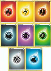 CHOOSE WHAT YOU NEED POKEMON  SWORD /& SHIELD BASIC ENERGY CARDS