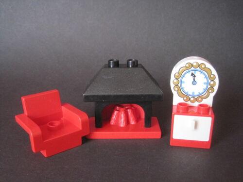 Sessel Kamin Ofen Schrank Kommode Uhr Lego Duplo Wohnzimmer Möbel Einrichtung
