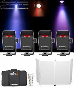 Chauvet-DJ-liberte-H1-X4-4-sans-fil-Lavage-par-Lights-Sac-Chargeur-Telecommande-Facade