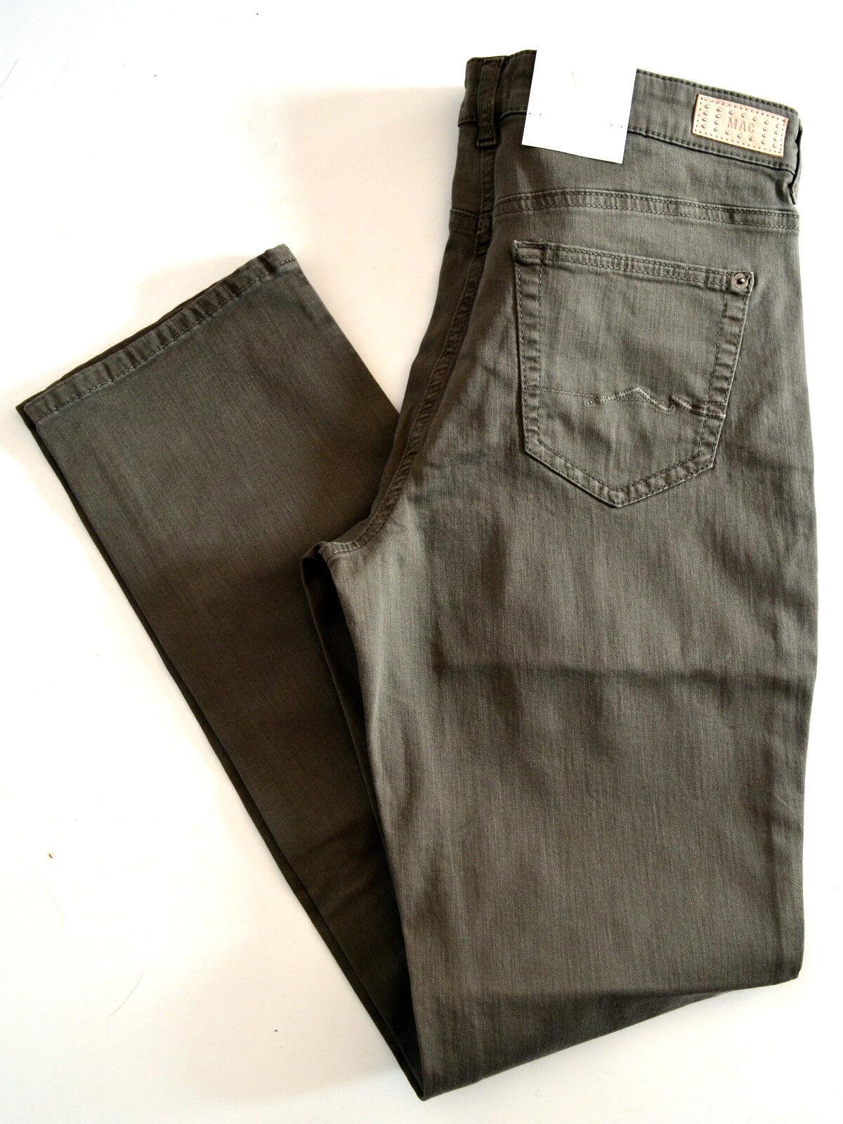 MAC Jeans ANGELA mittel braun Stretch slim fit straight Gr.44 L 32 NEU