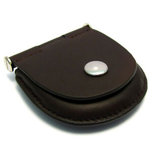 Pocket-Watch-Pouch-Heavy-Stitched-Leather-with-Belt-Loop-Choose-Brown-or-Black